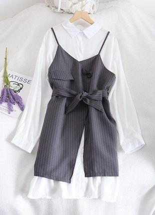 Комплект рубашка + сарафан