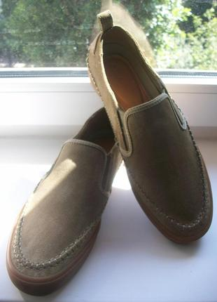 Туфли-мокасины мужские натуральная замша clarks р.41