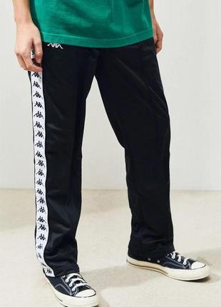 Черные и белые винтажные штаны kappa с лампасами | kappa, 222 banda