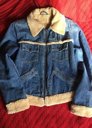Levi's джинсовая куртка на меху