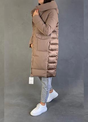 Пуховик одеяло/ парка/ объемное  пуховое  пальто зима.