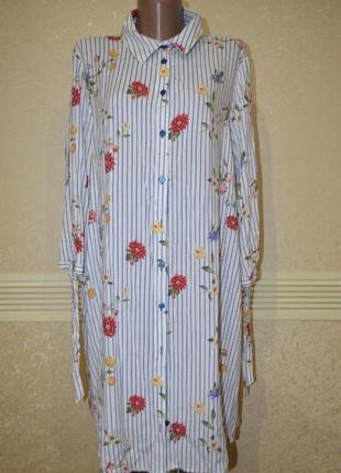 Платье/рубашка размер 50(по бирочке 16)