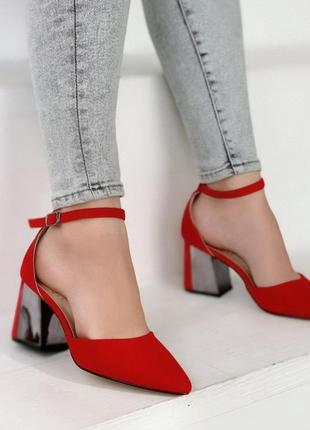 Туфельки материал - эко-замша цвет red очень легкие и удобные