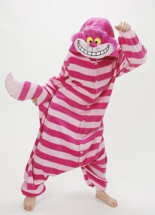 Кигуруми чеширский кот взрослый костюм l и xl