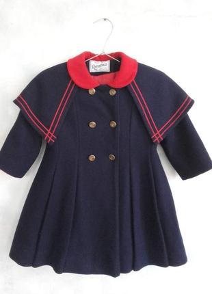 Крутое детское пальто в морском стиле сша 5 лет шерсть