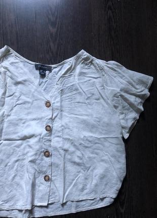 Актуальная рубашка блуза вискоза лен