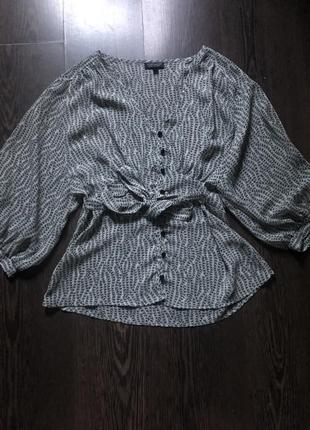 Шикарная рубашка с объемными рукавами topshop