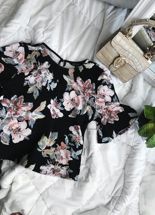 Блузка блуза в цветок цветочный принт new look