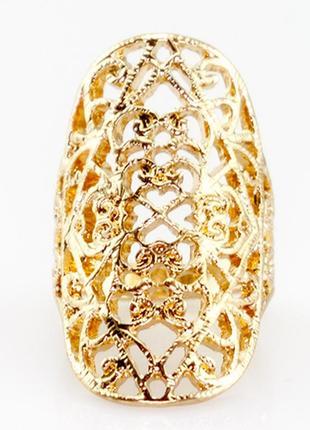 Широкое модное кружевное кольцо чалма  - золотая поэма