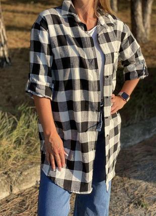 Рубашка блуза удлиненная италия