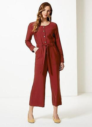 Стильный брючный комбинезон,брюки-кюлоты  marks & spencer