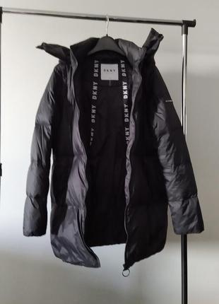 Новый пуховик одеяло dkny парка куртка 90% пух оригинал трансформер (жилет)