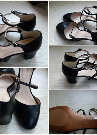 Стильные кожаные туфли 39