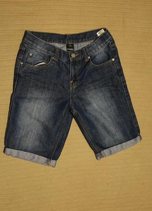 Отличные синие с выбеленностями шорты shapter young на рост 158 см