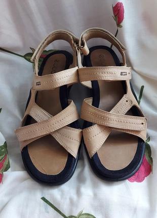 Босоножки сандали ecco 40p ортопедические коричневые