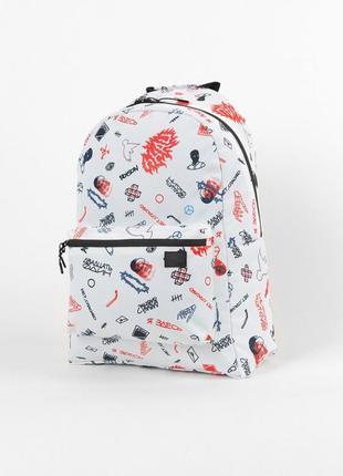 Рюкзак punch  simple doodle art портфель белый сумка ранец унисекс