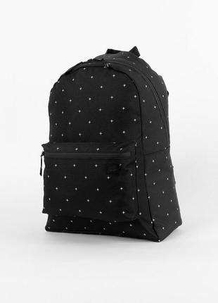 Рюкзак punch simple, stars портфель  черный сумка ранец женский / мужской