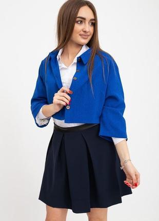 Пиджак женский с длинными рукавами электрик