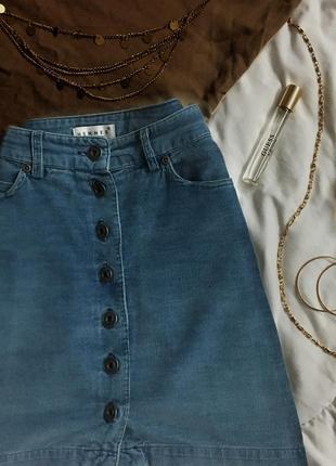 Вельветовая юбка под джинс |мини