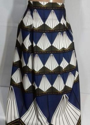 Мега стильная, стильная юбка миди в красивый принт  m&s pp 12