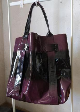 Натуральный лак италия stephane verdino сумка хобо большая оверсайз сумка велика