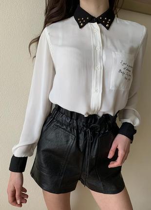 Біла сорочка, блуза, рубашка розмір s-m