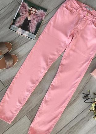Розовые летние джинсы,скинни стрейч zara