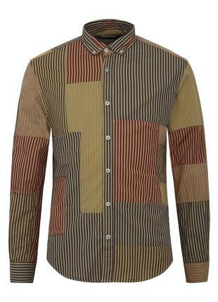 Брендовая рубашка serge blanco, patchwork  shirt