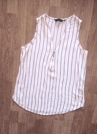 Черно-белая блуза new look в полоску