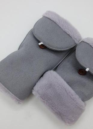 7-60 оригинальные крутые варежки митенки рукавички мітенки