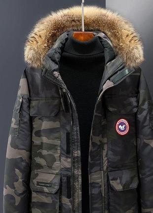 Мужская зимняя куртка аляска пуховик. очень тёплая. милитари хаки4 фото