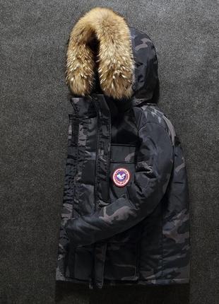Мужская зимняя куртка аляска пуховик. очень тёплая. милитари хаки5 фото