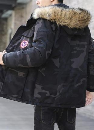 Мужская зимняя куртка аляска пуховик. очень тёплая. милитари хаки7 фото