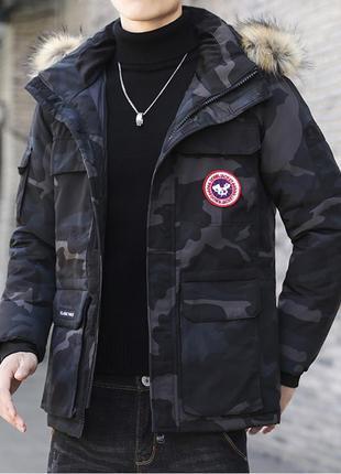 Мужская зимняя куртка аляска пуховик. очень тёплая. милитари хаки6 фото