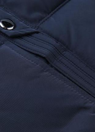 Мужская зимняя куртка на меху kang, синяя5 фото