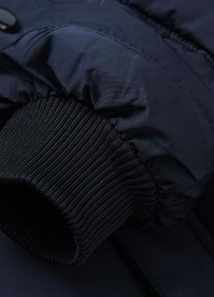 Мужская зимняя куртка на меху kang, синяя6 фото