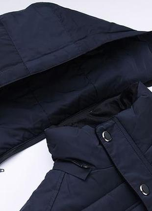 Мужская зимняя куртка на меху kang, синяя8 фото