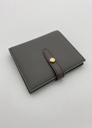 Кошелек бумажник женский натуральная кожа серый