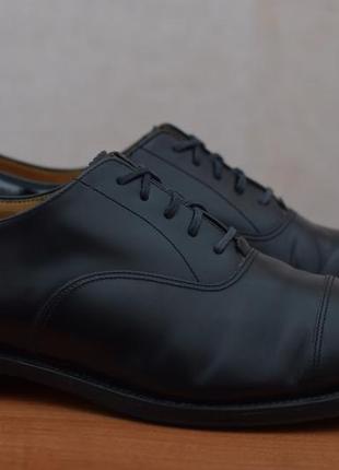 Черные кожаные туфли, оксфорды loake, 46 размер. оригинал