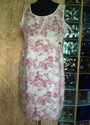 Льняное платье большого размера lazy jake. размер 18 европейский.