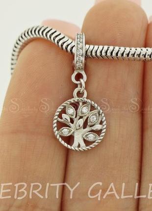 Шарм подвес для браслета пандора серебряный i 400001 rd w серебро 925