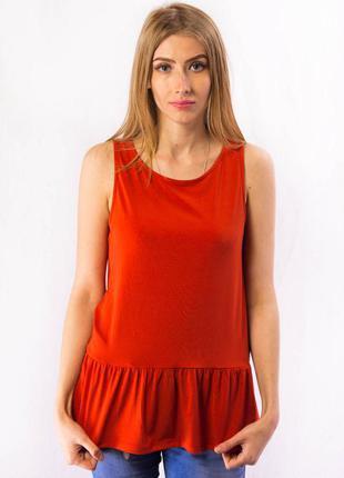 Майка женская t-shirt терракотовая promod (m)