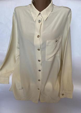 Шикарная молочная блуза шёлк