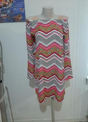 Нарядное платье, сарафан с рукавом с открытыми плечами на плечи, клешный рукав