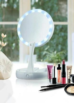 Зеркало для макияжа с led подсветкой.