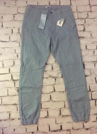 Крутые джоггеры брюки мужские штаны модные голубые