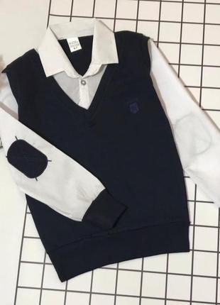 Кофта-рубашка обманка для мальчика