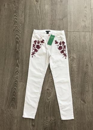 Шикарные джинсы скинни xs/s h&m швеция 🇸🇪
