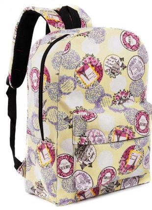 Рюкзак pack paris yellow портфель сумка ранец женский / мужской