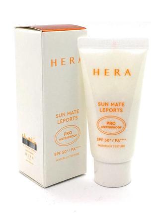 Cолнцезащитный водостойкий hera sun mate leports pro sweatproof spf 50 pa++++, корея люкс